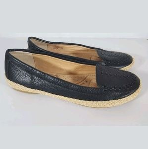 Sofft flats 7 espadrilles black leather